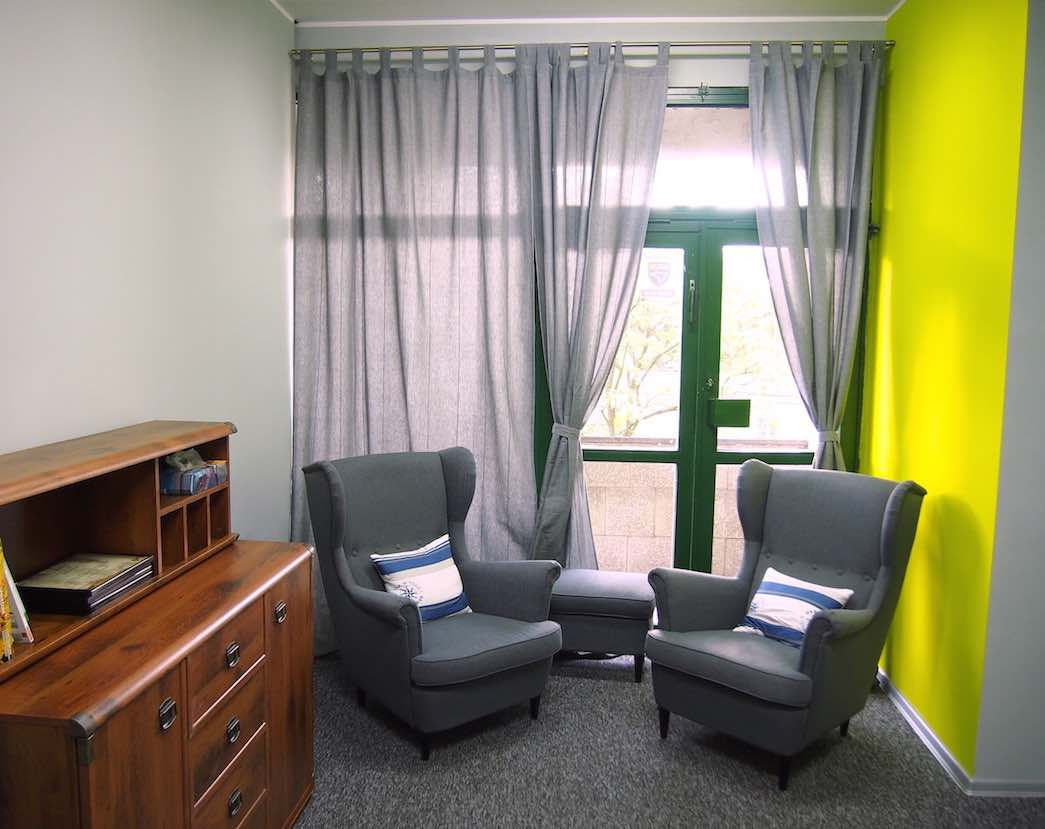 Wnętrze gabinetu psychologicznego